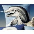 """Набор для вышивания Подушка """"Улыбающийся дельфин"""" 40х40см """"Vervaco"""""""