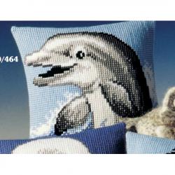 """Набор для вышивания Подушка """"Улыбающийся дельфин"""" 40х40см"""