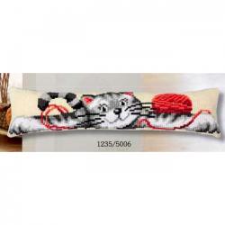 "Набор для вышивания Подушка от сквозняка ""Кот и клубок"""