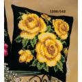 """Набор для вышивания Подушка """"Желтые розы на черном"""" 40х40см """"Vervaco"""""""