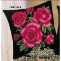 """Набор для вышивания Подушка """"Красные розы на черном"""" 40х40см """"Vervaco"""""""