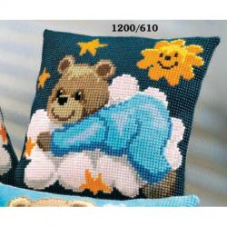 """Набор для вышивания Подушка """"Мишка-малыш"""" 40х40см"""