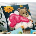 """Набор для вышивания Подушка """"Мишка-малышка"""" 40х40см """"Vervaco"""""""