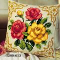 """Набор для вышивания Подушка """"Желтые и красные розы"""" 40х40см """"Vervaco"""""""