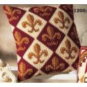 """Набор для вышивания Подушка """"Бордовый орнамент 1"""" 40х40см """"Vervaco"""""""