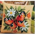 """Набор для вышивания Подушка """"Бабочка в ромашках"""" 40х40см """"Vervaco"""""""