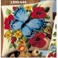 """Набор для вышивания Подушка """"Голубая бабочка"""" 40х40см """"Vervaco"""""""