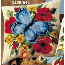 """Набор для вышивания Подушка """"Голубая бабочка"""" 40х40см"""