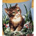 """Набор для вышивания Подушка """"Котенок и снежок"""" 40х40см """"Vervaco"""""""