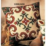 """Набор для вышивания Подушка """"Коричнево-зеленый орнамент 6"""" 40х40см """"Vervaco"""""""