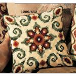 """Набор для вышивания Подушка """"Коричнево-зеленый орнамент 7"""" 40х40см """"Vervaco"""""""