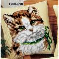 """Набор для вышивания Подушка """"Котенок с бантиком"""" 40х40см """"Vervaco"""""""