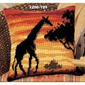 "Набор для вышивания Подушка ""Закат. Жираф"" 40х40см ""Vervaco"""
