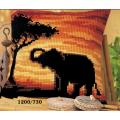 "Набор для вышивания Подушка ""Закат. Слон"" 40х40см ""Vervaco"""