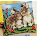 """Набор для вышивания Подушка """"Кролики"""" 40х40см """"Vervaco"""""""