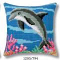 """Набор для вышивания Подушка """"Дельфин"""" 40х40см """"Vervaco"""""""