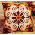 """Набор для вышивания Подушка """"Красно-желтый орнамент 1"""" 40х40см """"Vervaco"""""""