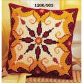"""Набор для вышивания Подушка """"Красно-желтый орнамент 3"""" 40х40см """"Vervaco"""""""