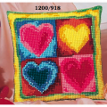 """Набор для вышивания Подушка """"Сердца"""" 40х40см """"Vervaco"""""""