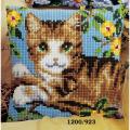"""Набор для вышивания Подушка """"Зеленоглазый кот"""" 40х40см """"Vervaco"""""""