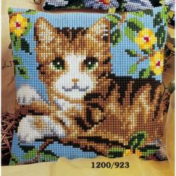 """Набор для вышивания Подушка """"Зеленоглазый кот"""" 40х40см"""