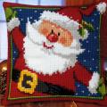"Набор для вышивания Подушка ""Дед мороз"" 40х40см ""Vervaco"""