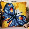 """Набор для вышивания Подушка """"Синяя бабочка"""" 40х40см """"Vervaco"""""""