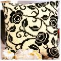 """Набор для вышивания Подушка """"Черно-белые цветы"""" 40х40см """"Vervaco"""""""
