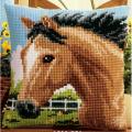"Набор для вышивания Подушка ""Скачущая лошадь"" 40х40см ""Vervaco"""