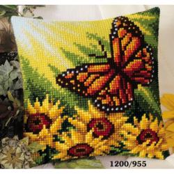 "Набор для вышивания Подушка ""Бабочка на солнце"" 40х40см"
