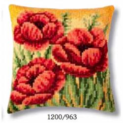 """Набор для вышивания Подушка """"Три тюльпана"""" 40х40см"""