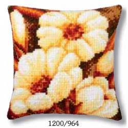 """Набор для вышивания Подушка """"Светлые цветы"""" 40х40см"""