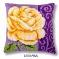 "Набор для вышивания Подушка ""Желтая роза"" 40х40см ""Vervaco"""