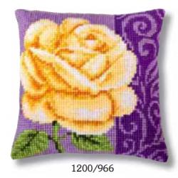 "Набор для вышивания Подушка ""Желтая роза"" 40х40см"