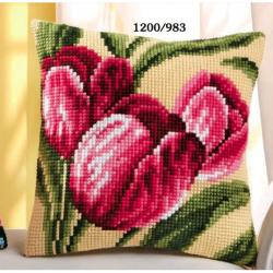 "Набор для вышивания Подушка ""Тюльпаны"" 40х40см"