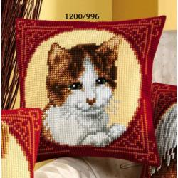 """Набор для вышивания Подушка """"Кошка в кругу"""" 40х40см"""