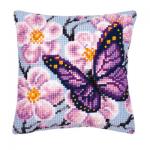 """Набор для вышивания Подушка """"Бабочка и орхидеи"""" 40х40см """"Vervaco"""""""