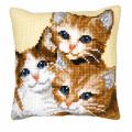"""Набор для вышивания Подушка """"Три котенка"""" 40х40см """"Vervaco"""""""