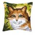 """Набор для вышивания Подушка """"Рыжий кот"""" 40х40см """"Vervaco"""""""