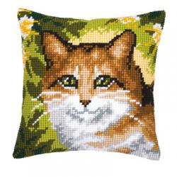 """Набор для вышивания Подушка """"Рыжий кот"""" 40х40см"""