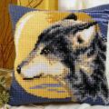 """Набор для вышивания Подушка """"Волк и луна"""" 40х40см """"Vervaco"""""""