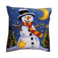 """Набор для вышивания Подушка """"Приветливый снеговик"""" 40х40см """"Vervaco"""""""