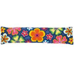 """Набор для вышивания Подушка от сквозняка """"Яркие цветы"""" 80х20см"""