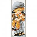 """Канва с рисунком """"Игрушечный клоун"""" 19х49см """"Royal Paris"""""""