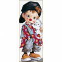 """Канва с рисунком """"Маленький клоун"""" 19х49см """"Royal Paris"""""""