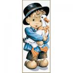 "Канва с рисунком ""Мальчик из Оверни"" 19х49см ""Royal Paris"""