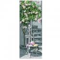 """Канва с рисунком """"Розы"""" 19х49см """"Royal Paris"""""""