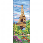"Канва с рисунком ""Эйфелева башня"" 19х49см ""Royal Paris"""