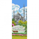 """Канва с рисунком """"Голубая мечеть Султанахмет"""" 19х49см """"Royal Paris"""""""