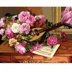 """Канва с рисунком """"Букет роз"""" 37х47,5см """"Royal Paris"""""""
